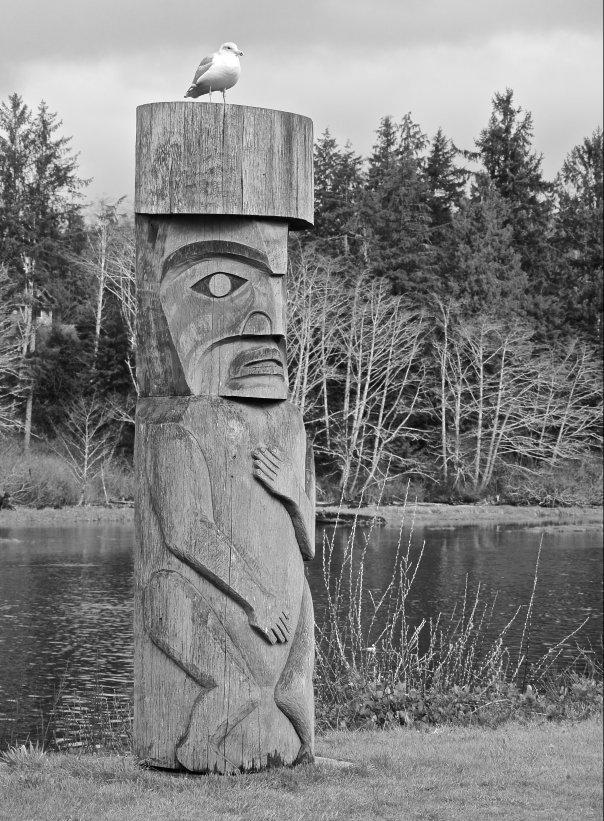 Totem Pole in Bamfield BC