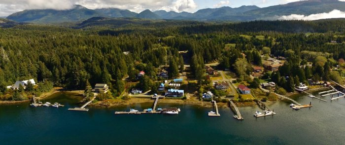 Bamfield BC Inlet view from above